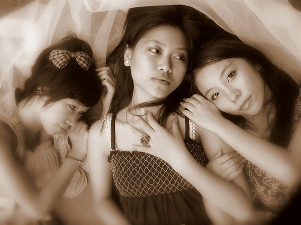 Sisters Photograph - Sisters Repose 2 by Annie