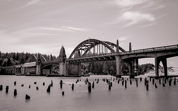 Siuslaw Photograph - Siuslaw River Bridge by HW Kateley