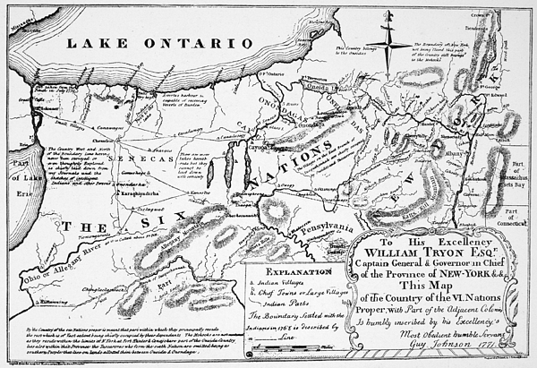 1771 Drawing - Six Nations Map 1771 by Granger