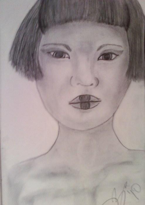 Portrait Drawing - Sketch 5 by Dorine Coello