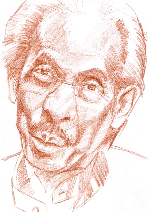 Portrait Drawing - Sketch by Aizam Solihin