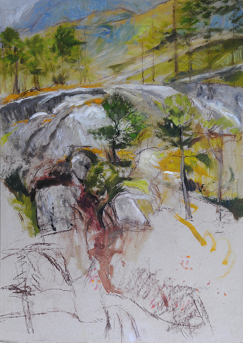 Landscape Painting - Sketch For Ogwen Painting by Harry Robertson