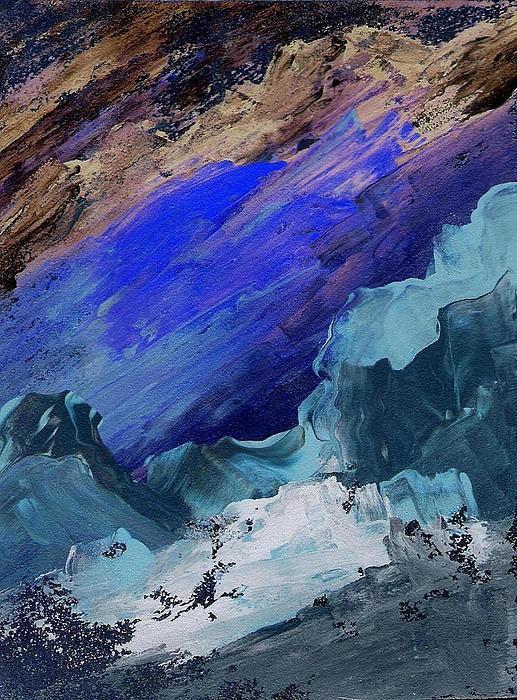 Skiing Painting - Ski Slope by Ginger Lovellette