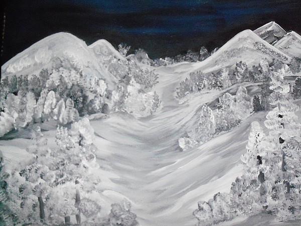 Ski Slope Painting by Teresa Nash