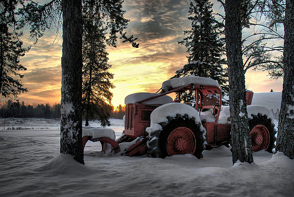 Landscape Photograph - Skidder Sunrise by Heather  Rivet