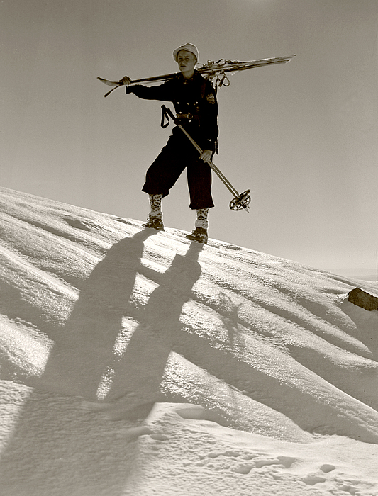 Skiing Photograph - Skier by Unknown