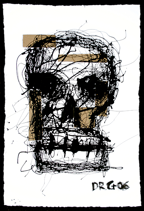 Abstract Painting - Skull by Dmitry Gubin