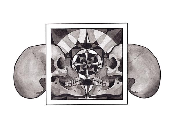 Mandala Mixed Media - Skull Mandala Series Nr 1 by Deadcharming Art