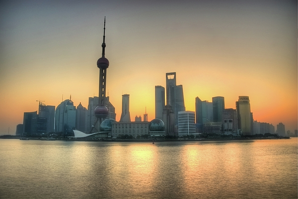 Horizontal Photograph - Skyline At Sunrise by Photo by Dan Goldberger