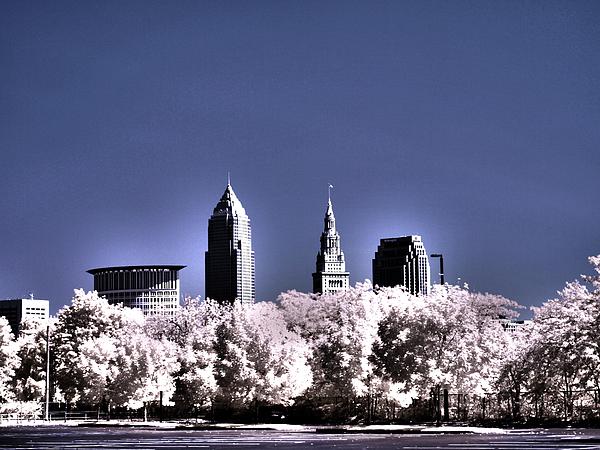 Architecture Photograph - Skyline Cleveland, Ohio by Bob LaForce