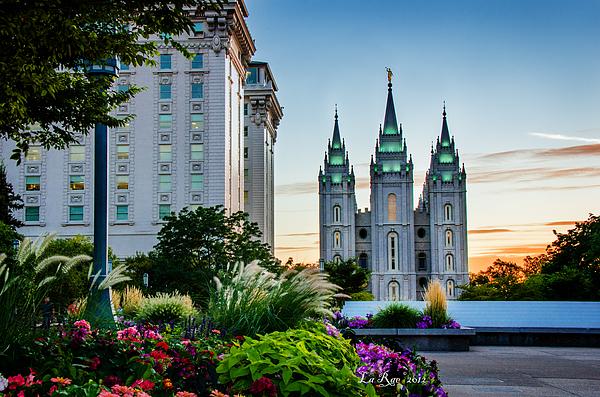 Mormon Temple Photography Photograph - Slc Temple Js Building by La Rae  Roberts