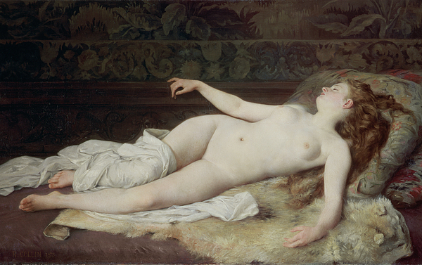 Nude Painting - Sleep by Louis Joseph Raphael Collin