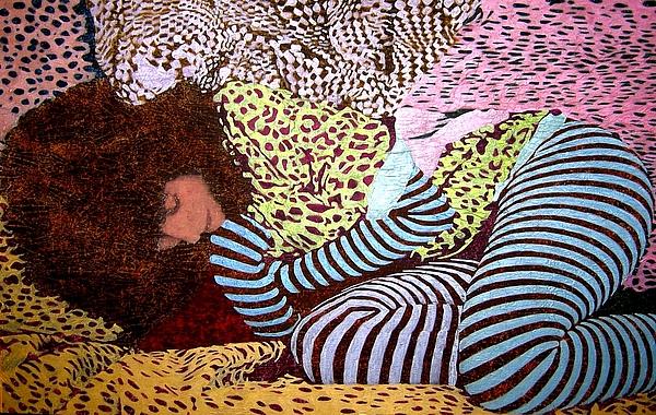 Sleeping Goddess Mixed Media by Frank Rozasy
