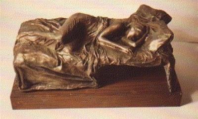 Figurative Sculpture - Sleeping Woman by Harry  Weisburd