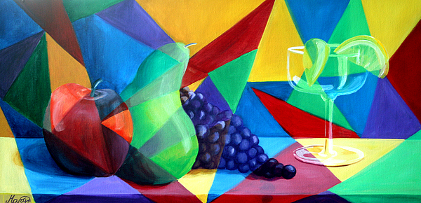 Fruit Painting - Sliced Fruit by Maryn Crawford
