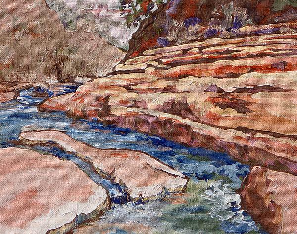 Slide Rock Painting - Slide Rock by Sandy Tracey