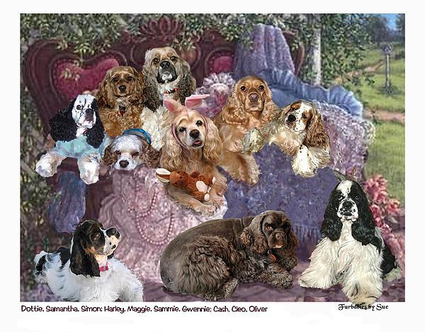 Cocker Spaniels Painting - Slumber Party by Sue Alandar