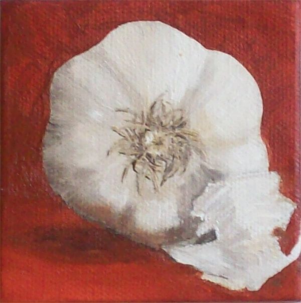 Garlic Painting - Small But Mighty by Irene Corey