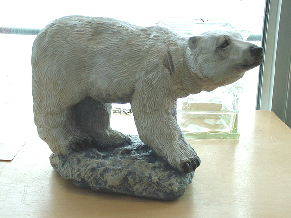 Animal Sculpture - Small Polar Bear by Charles Johnston