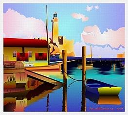 Small Port Digital Art by Armond Danan
