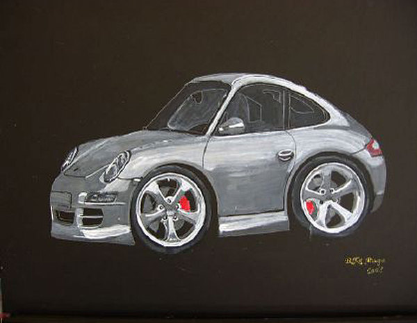Car Painting - Smart Porsche by Richard Le Page