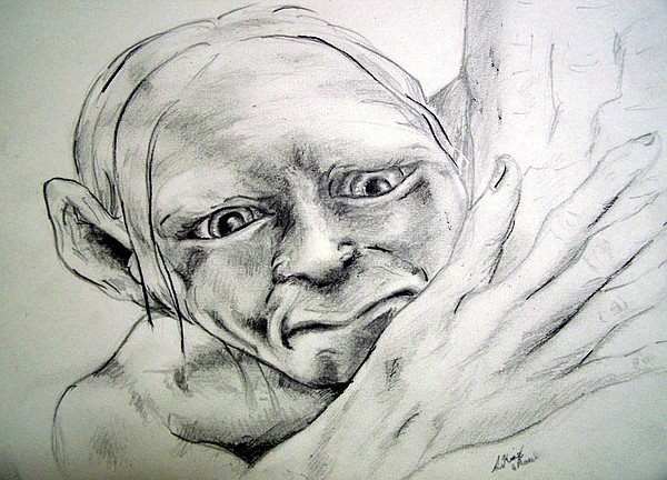 Portraits Drawing - Smeggle by Lilly King