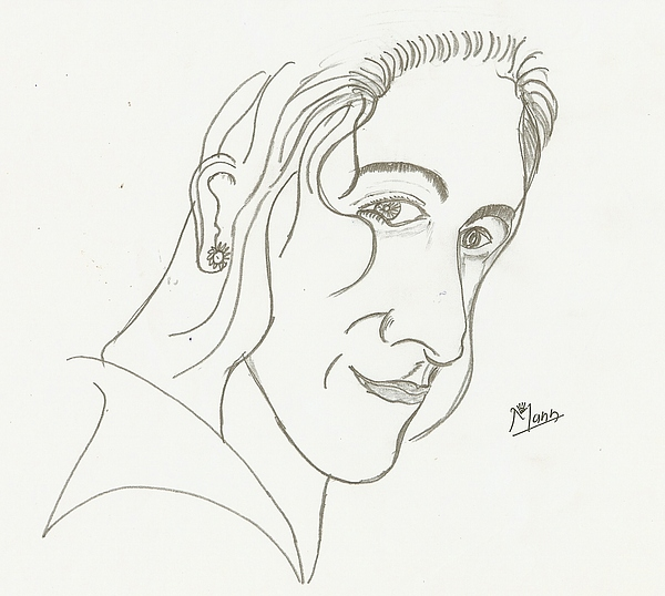 Man Drawing - Smile Face by Mann Dharmendra Suthar