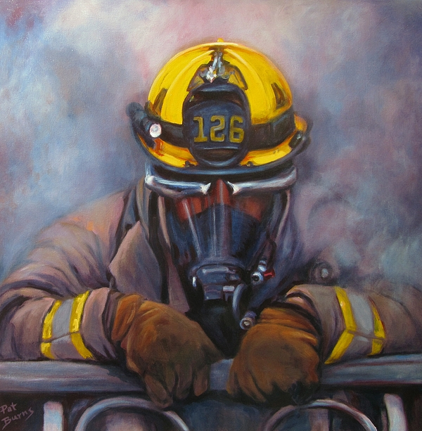 Fireman Painting - Smoke Jumper 126 by Pat Burns