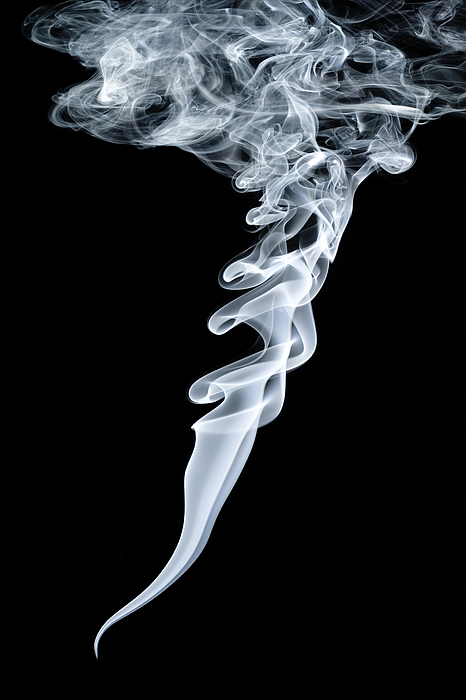 Vortex Photograph - Smoke Patterns by Paul Rapson