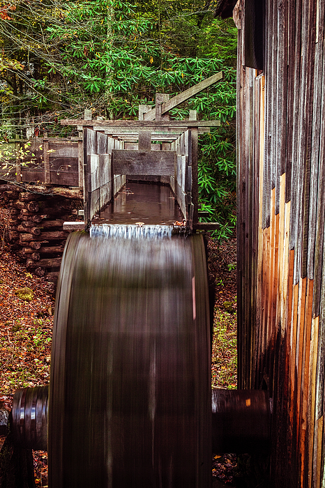 Mill Photograph - Smoky Mountain Mill by Andrew Soundarajan