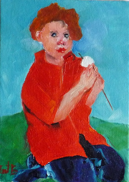 Figurative Painting - Smores Eating by Irit Bourla