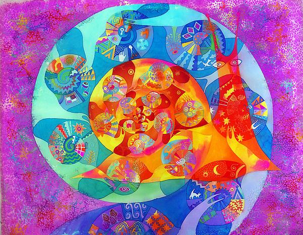 Impressionism Painting - snail by Krivoshei Ekaterina