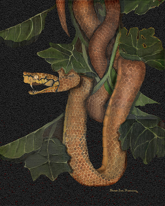 Serpent Painting - Snake Of No Kind by Karen-Lee