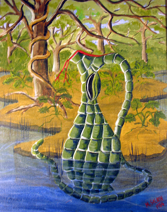 Snakeskin Painting - Snake Skin Pitcher by Myrna Salaun