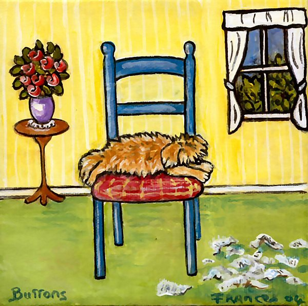 Dog Painting - Snooze Time by Frances Gillotti