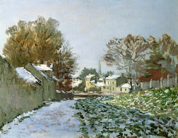 Snow Painting - Snow At Argenteuil by Claude Monet