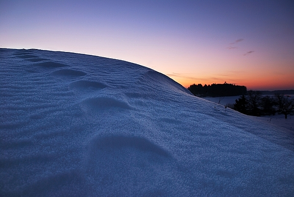 Winter Photograph - Snow Bank by Hannes Cmarits