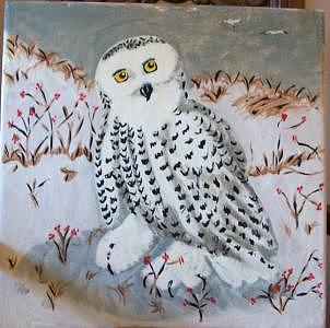 Snow Owl Painting - Snow Beneath My Feet by Kathy Young
