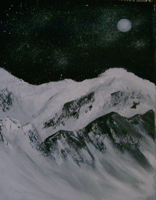 Mountains Painting - Snow  by Dottie Briggs