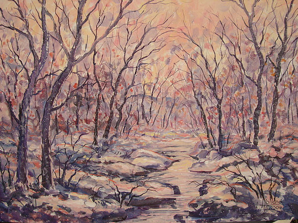 Landscape Painting - Snow In The Woods. by Leonard Holland