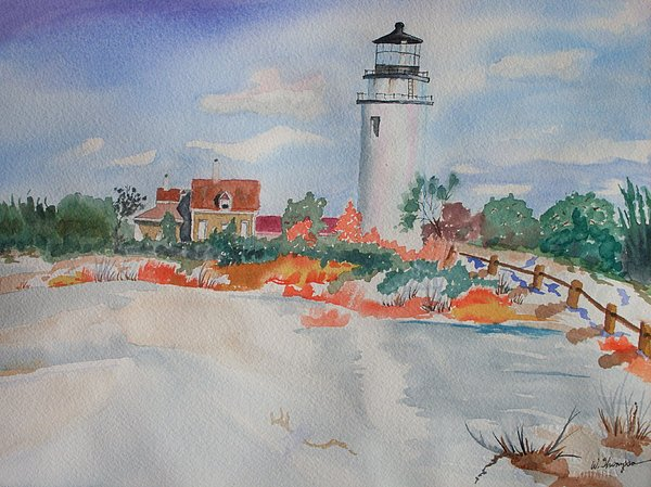 Snow Painting - Snow Light At Cape Cod by Warren Thompson