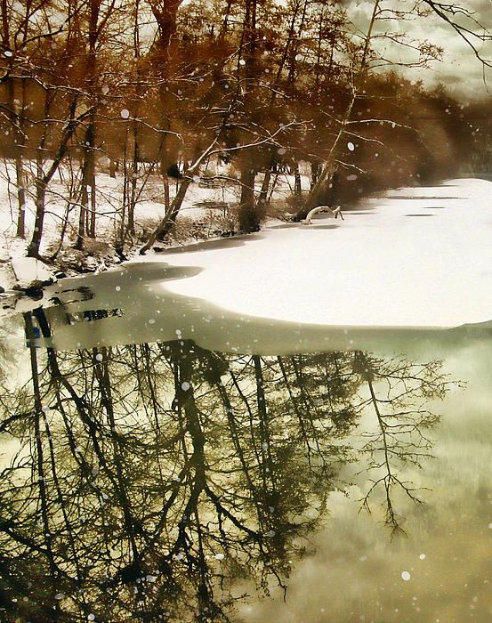 Landscape Photograph - Snow Pond by Jessica Jenney