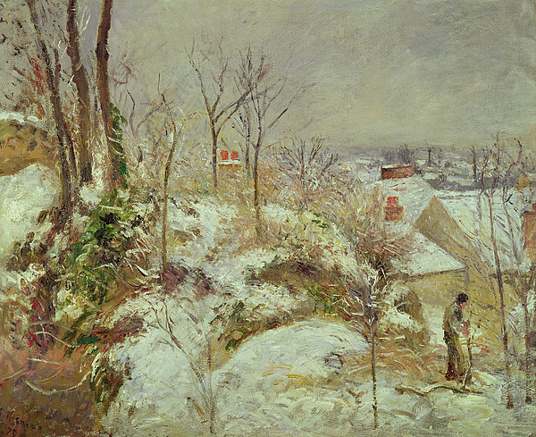 Snow Painting - Snow Scene by Camille Pissarro