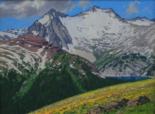 Landscape Painting - Snowmass Mountain by Lanny Grant