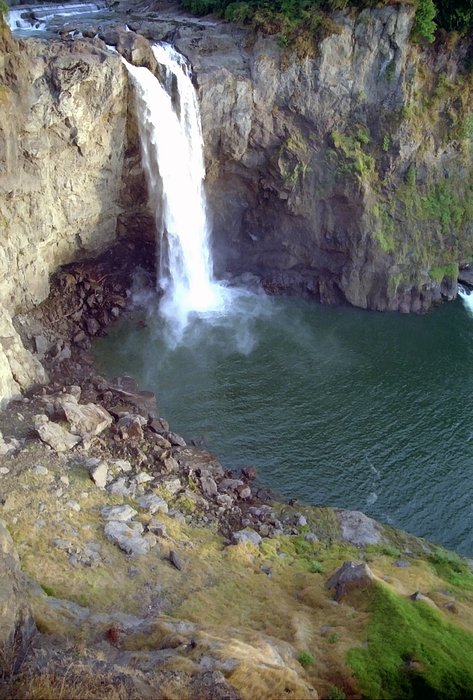 Falls Photograph - Snowqualmie Falls 2 by Steve Ohlsen