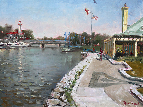 Snug Harbour Restaurant Painting - Snug Harbour Restaurant by Ylli Haruni