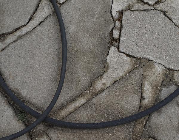 Soaker Hose On Broken Concrete Photograph by Bart Ross