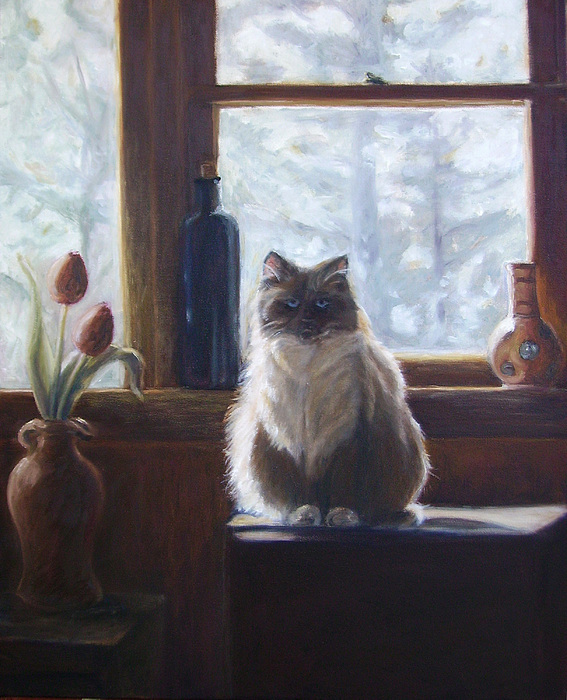 Pets Painting - Soaking Up The Sun by Tahirih Goffic