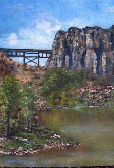 Landscape Painting - S.o.b Caynon by Darla Joy  Johnson