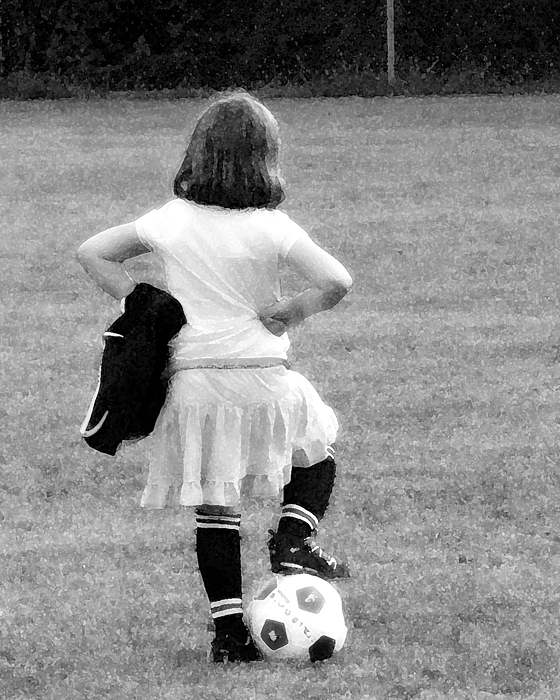 Soccer Photograph - Soccer Fashionista by Keith Campagna